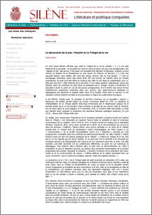 Vecce, Carlo (2015) La découverte de la joie: Pasolini et la Trilogie de la vie. Silène. Littérature et poétique comparées . ISSN 2105-2816