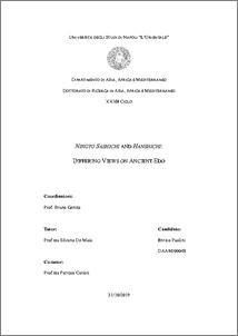 Paolini, Enrico (2020) Ningyō Sashichi and Hanshichi: Differing Views on Ancient Edo. Tesi di Dottorato, Università degli Studi di Napoli L